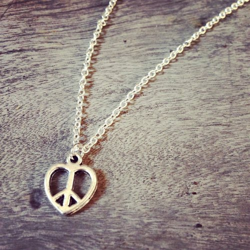 【Story Necklace 故事項鍊】PEACE LOVE