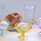 CB(黃色)搥花淇淋杯、沙拉碗、點心盤各2入-共6入 原價$1440 超值組優惠價$1163
