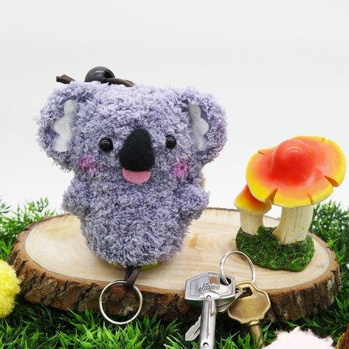 棉花糖动物钥匙包-中钥匙包(无尾熊)