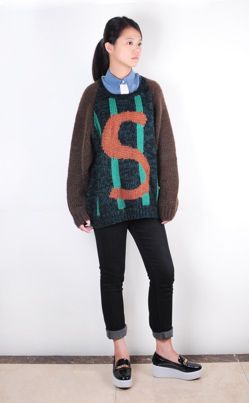 西瓜星人粗针毛线编织毛衣