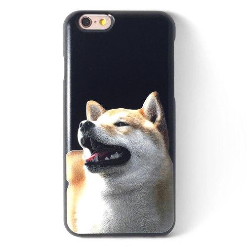 柴犬 超萌阿呆 嘟嘟f黑】,iphone 6系列,3d立体浮雕列印 悠游卡手机壳