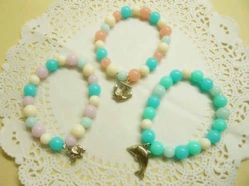 Nadia ♥ 粉嫩果凍珠系列手環~多色*多款
