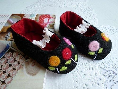 手工婴儿鞋~童趣羊毛毡