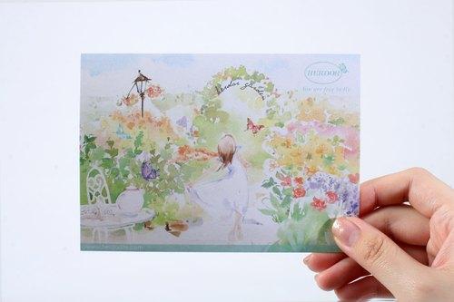 【HERDOR】卡片/酷卡/手繪明信片-花園鄉村、浪漫下午茶系列明信片/酷卡/卡片(四款)