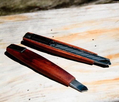 手工制作实木美工刀