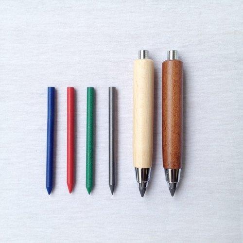 ◤義大利原木按壓式繪圖筆-﹝筆芯﹞ | 歐式 復古 木 書寫 文具 Francesco Rubinato