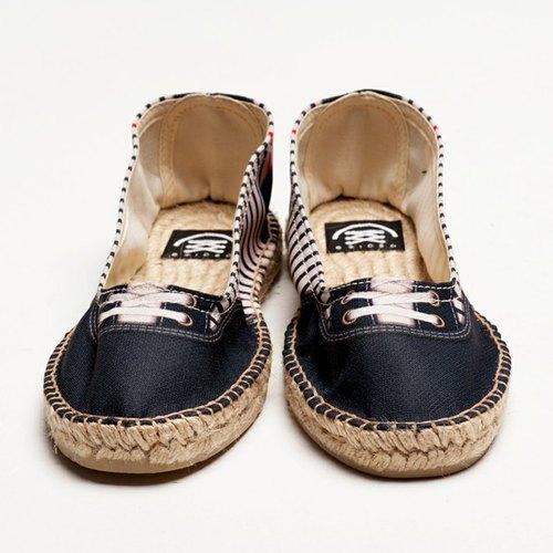 Groover Mariniere Ballet 仿真時尚設計印刷休閒鞋