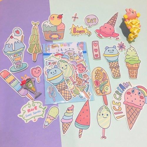 消暑冰淇淋贴纸包(20入)