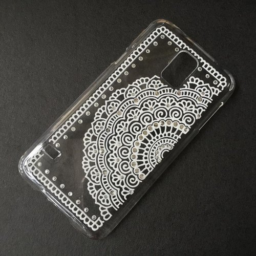手绘透明手机壳 手机套 白色 iphone 7 6s samsung galaxy sony lg ca