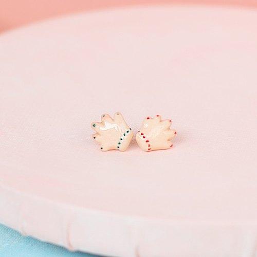 paramecium【莉桃汉德】石塑粘土创意首饰原创设计耳钉小手点点
