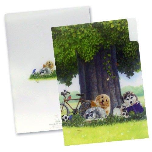 【亨利屋】三頁文件夾-大樹下/SFF2-32