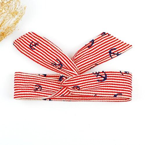 小牛村 calf village 手工发饰 铝线发带 多元造型 领巾 头带 百搭
