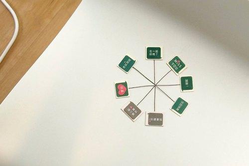 《綠果》告白立牌-巨石像盆栽專屬-客製化立牌