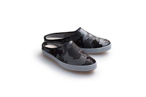 『Baby Day』MIT珠光迷彩輕便鞋『MEN款』 黑銀 男鞋 親子鞋
