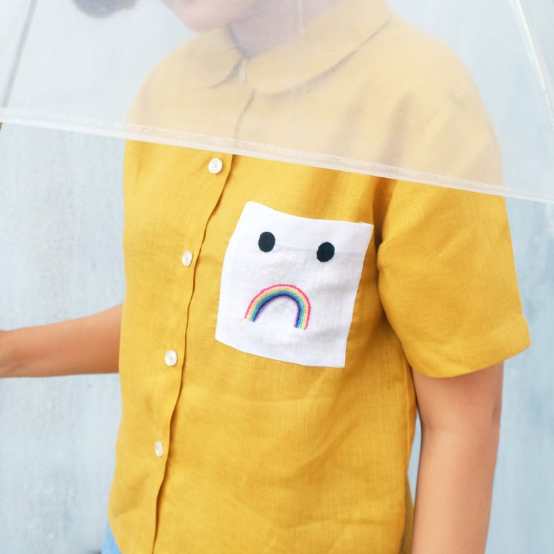 Unhappy Rainbow Pocket Shirt