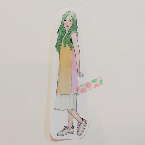 ✦小美人魚女孩 / 全身單張貼紙