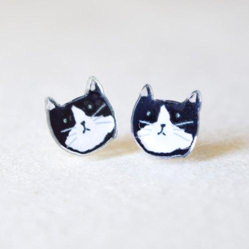 马恩岛猫耳环
