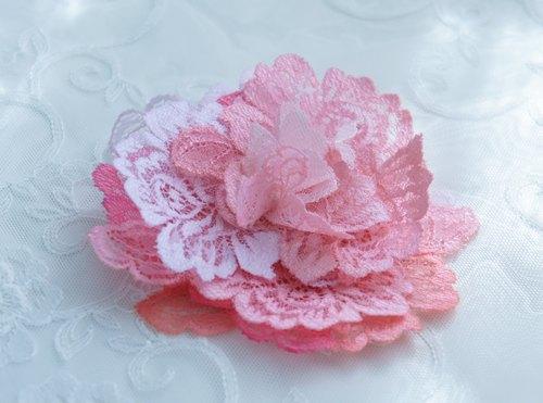 蕾丝布料立体花