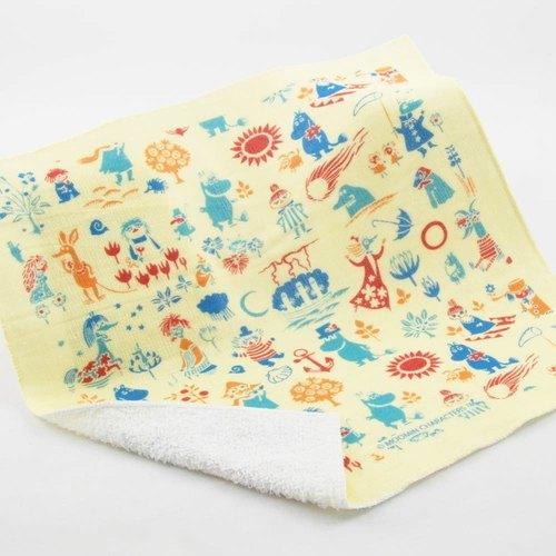 Moomin嚕嚕米授權-柔棉小方巾:【歡樂谷的夏日】
