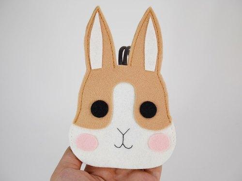 可爱动物钥匙包-卡其兔