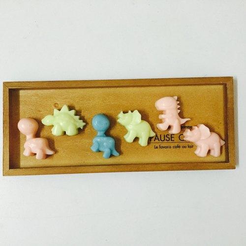 微加幸福 恐龙来袭 / 四只一组 - 婚礼小物手工皂