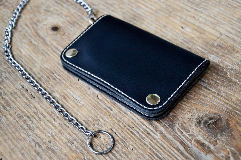 Biker Wallet Leather Wallet Mens Wallet Chain Wallet
