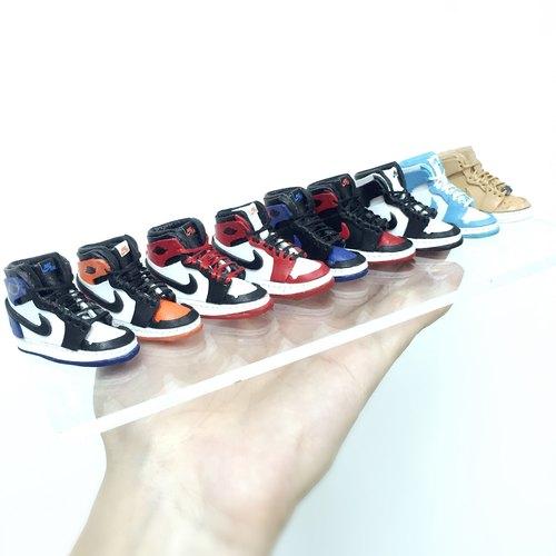 NIKE 經典Michael Jordan米高佐敦籃球鞋1代.微型皮革匙扣 Accessories.原創全手作