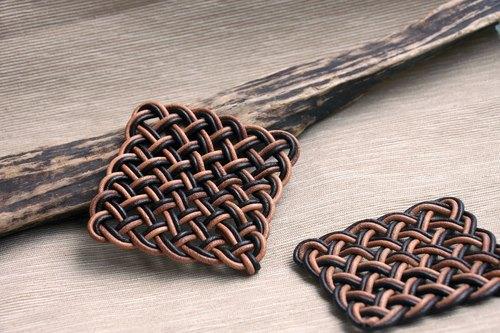 手工编织皮绳杯垫