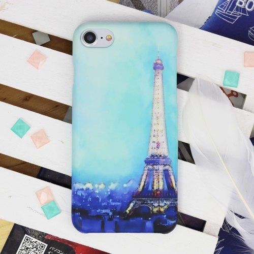 浪漫 黄昏 法国 巴黎 风景 巴黎铁塔 埃菲尔铁塔 名胜 磨砂 手机壳