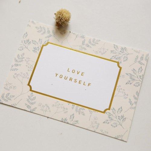 Dailylike 經典時刻明信片卡片V3-07 leafy (love yourself),E2D40624