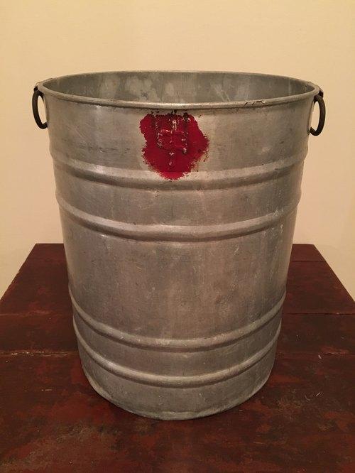 工业风铝桶铁桶铁筒圆桶圆筒乡村风杂货zakka垃圾桶画