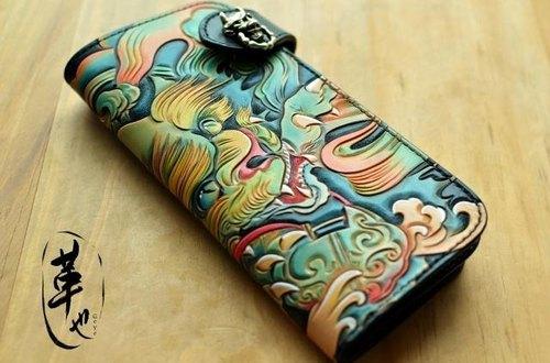 纹身客户定制  雕花唐狮 福狮绘图案