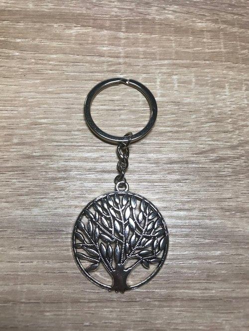 —拉克希米—生命之树 能量钥匙圈 开运 藏银 手工制作 丰盛树 神圣