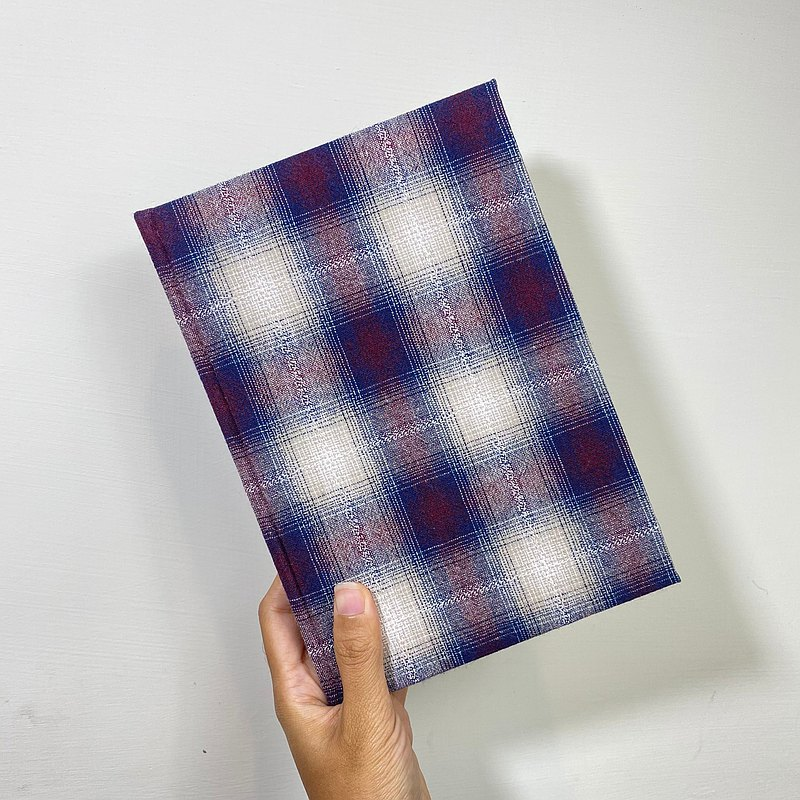 Purple Plaid A5/A6-Handbook/Notebook/Blank Handbook Hardcover Notebook Non-aging Monthly Calendar Weekly Planning Handbook
