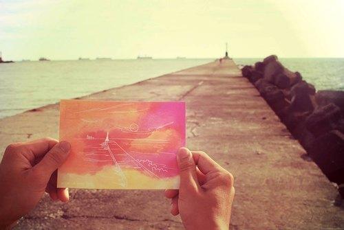 【明信片】我在高雄天氣熱--西子灣(告白明信片)