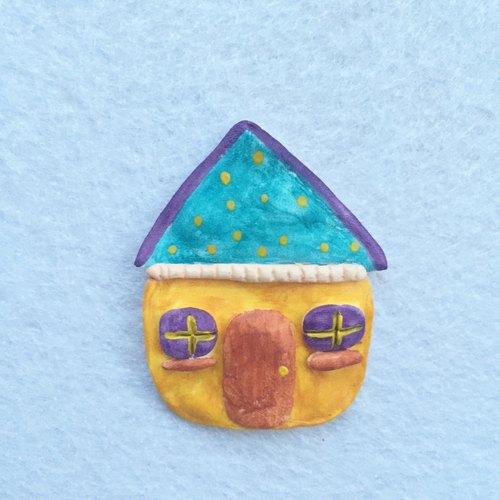 小房子创意礼物人偶可爱超轻粘土纸黏土陶土胸针别针