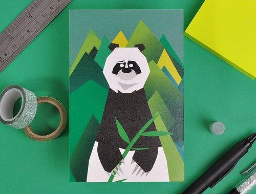 熊人先生系列设计明信片 - 四川之熊猫 - mrtoto