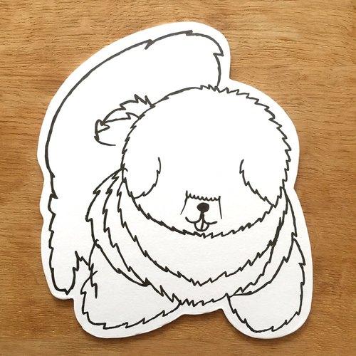 狗狗杯墊明信片(西藏獒犬)