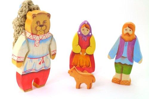 俄羅斯故事積木-淳木童話-套組系列: 瑪莎與熊(5 pieces) --- 經典俄羅斯童話