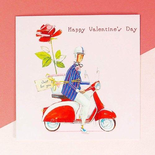 男朋友送花献给你【ld情人节卡片】 - hallmark cards