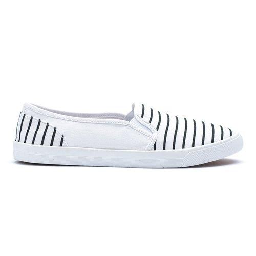 [BOBBIE BURNS]海軍條紋懶人鞋 白色 RUDIA WMN SLIP ON WHT