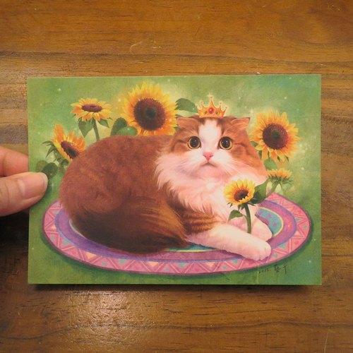 可爱小猫头像油画