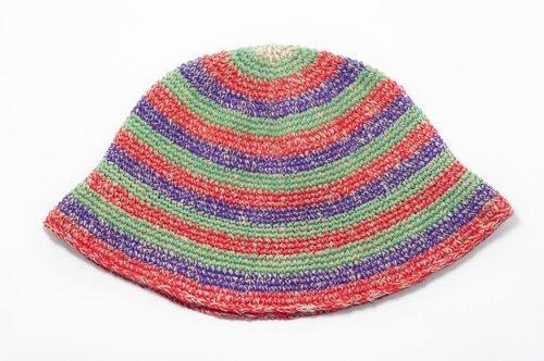 情人节礼物 手工编织帽 / 针织毛帽 / 手织棉麻帽 / 毛线帽 / 渔夫帽