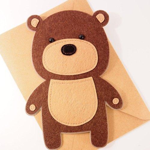 可爱的小熊熊卡片【signature经典手工系列
