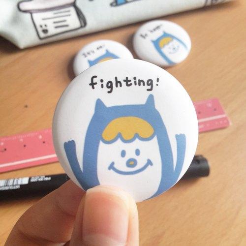 Ning's徽章/別針-Fighting(3.8cm)