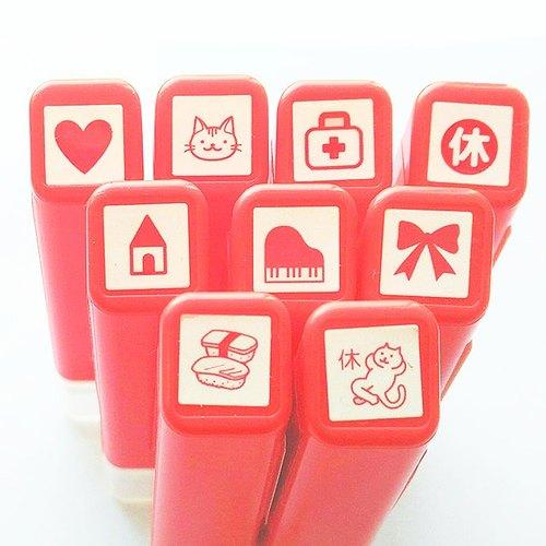 日本kodomo新款手帐印章-红色款