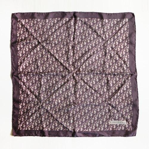 A ROOM MODEL - VINTAGE,PA-0092 Dior咖啡系幾何圖形絲巾