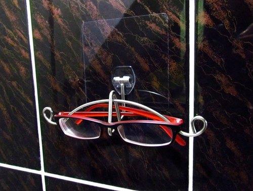 *免鑽孔*不銹鋼貼掛眼鏡架,眼鏡放置架,獨特風格,不同質感的生活選項,伸張不同的生活感,專利設計品
