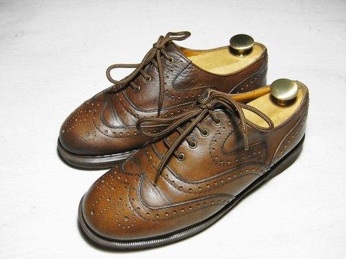 ~後菜園~古著 Dr.Martens深棕色牛津鞋(尺碼男款UK8號可穿)