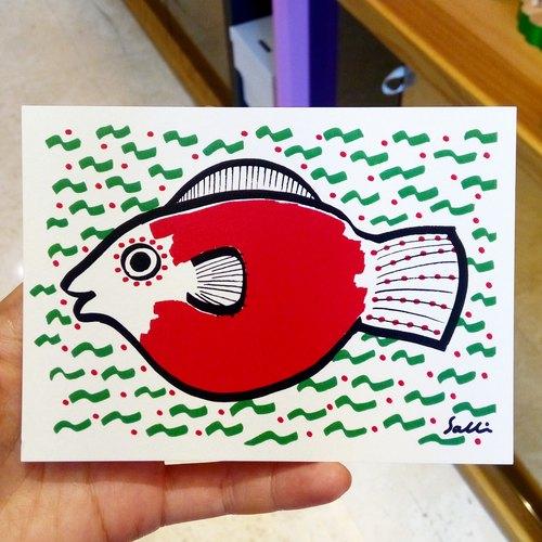 「怀孕妈妈鱼」(可制作a3大小的海报) 生日卡 设计 著色 插画 绘本